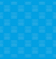office folder pattern seamless blue vector image vector image