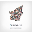 people map country San Marino vector image vector image