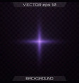 purple glowing light vector image vector image