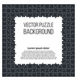puzzle frame background with jigsaw pieces vector image vector image