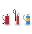 Red and Blue Fire Extinguisher Isolated on White vector image