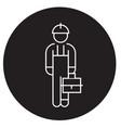 repair man black concept icon repair man vector image vector image