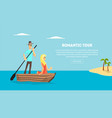 romantic tour love couple travel together happy vector image