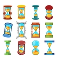Sand clocks set vector image vector image
