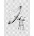 satellite dish on transparent background vector image vector image