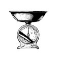 scales trading mechanical vector image vector image