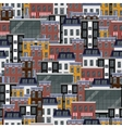 seamless flat pattern with different city vector image