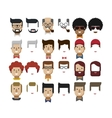 set avatars male faces design vector image vector image