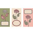 set floral card templates vector image