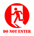 sign do not enter vector image vector image