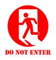 sign do not enter vector image