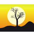 silhouette of a tree vector image vector image