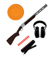 Skeet rifle headphones for shooting buckshot and vector image vector image
