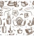 spa and beauty sketch seamless pattern massage