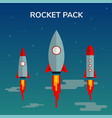 space rocket start up pack and launch symbol new vector image