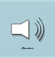 speaker black and white color on a blue background vector image vector image