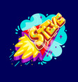 steve name rocket vector image vector image