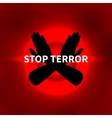 Stop terror vector image vector image