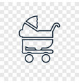 stroller concept linear icon isolated on vector image