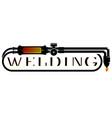 symbol for welder design vector image vector image