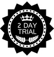 two day trial icon vector image vector image