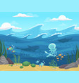 underwater seamless 2d game water landscape with vector image vector image