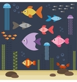 underwater world with fishes vector image vector image
