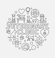 veterinary clinic round vector image