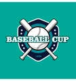 vintage color baseball championship logo or badge vector image vector image