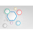 white hexagonal geometric infographic background vector image vector image