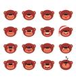 Set of smiley teddy bear vector image