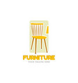 furniture logo design template home vector image