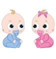 Little boy and little girl vector image