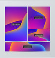 brochure flyer layouts with abstract colorful vector image