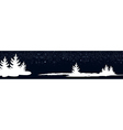 dark blue banner with New Year trees vector image