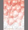 3d realistic balloon background pastel vector image