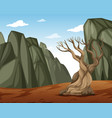 a dry mountain landscape vector image vector image