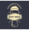 a glass beer and emblem for text vector image vector image