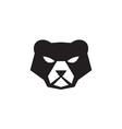 American Black Bear Head Retro vector image