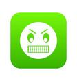 angry emoticon digital green vector image vector image