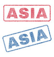 asia textile stamps vector image vector image