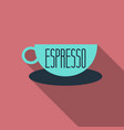 authentic italian espresso vintage coffee poster vector image