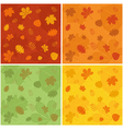 Autumn patterns vector image vector image