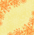 Background with Abstract Orange Flowers vector image
