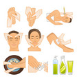 beauty spa icons vector image