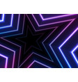 blue ultraviolet neon glowing stars abstract vector image