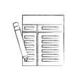 business office paper document pencil elements vector image