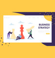business strategy plan thinking landing page vector image