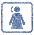 calling woman fabric textured icon vector image