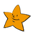 Cartoon star smile light night icon vector image